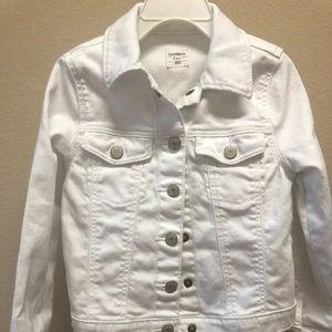 Baby Gap white jean jacket.